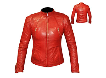 leather jacket fashion wear